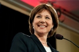 BC Liberal leader Christy Clark speaks at the Wall centre after being re-elected on May 14, 2013.